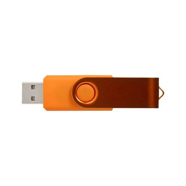 Rotační metalické USB - oranžová
