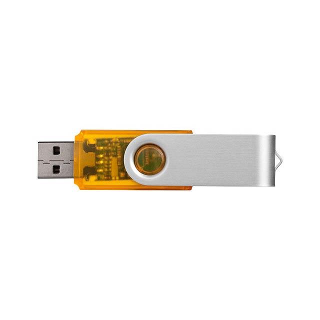 Rotační průsvitné USB - oranžová
