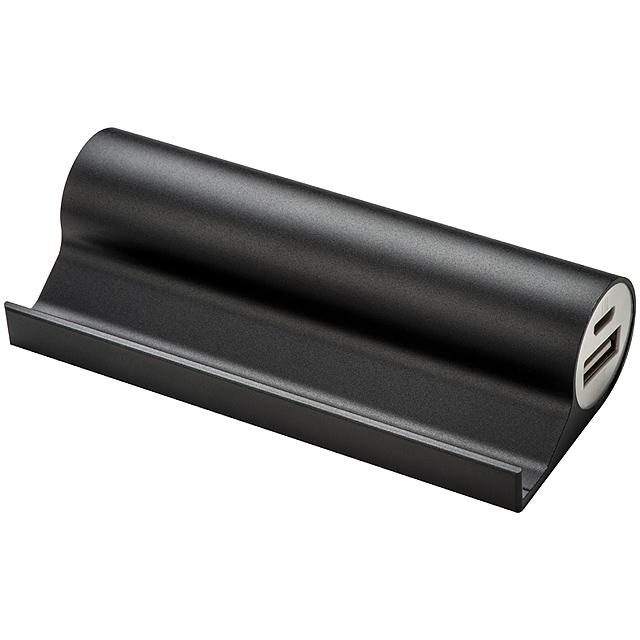 Držák na smartphone s powerbank - černá