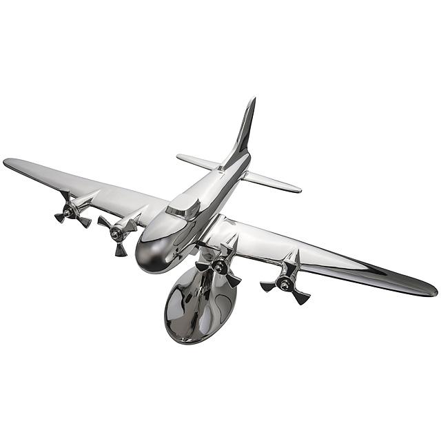 Kovové letadlo - šedá