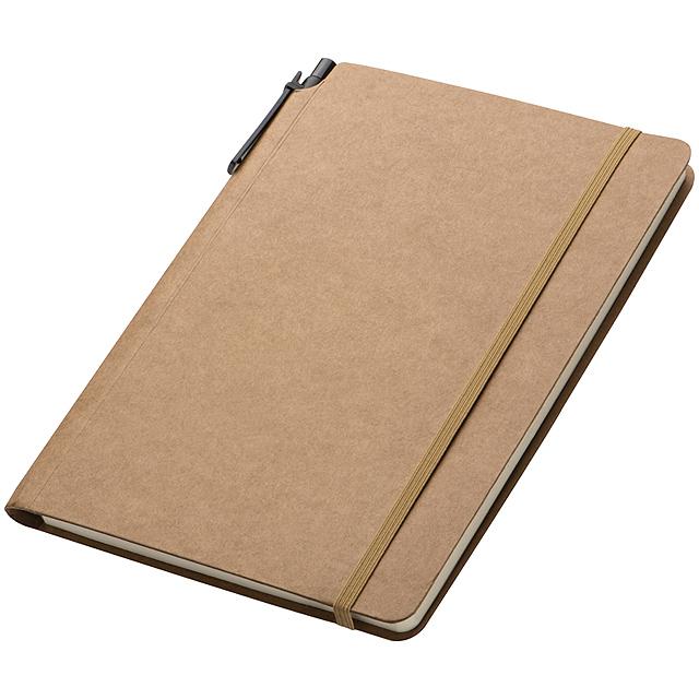 Velký zápisník - hnědá