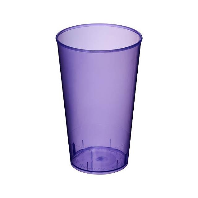 Plastový kelímek Arena 375 ml - transparentní fialová