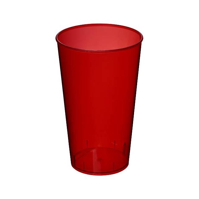 Plastový kelímek Arena 375 ml - transparentní červená