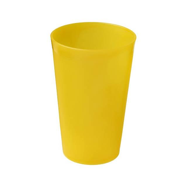 Plastový kelímek Drench 300 ml - žlutá