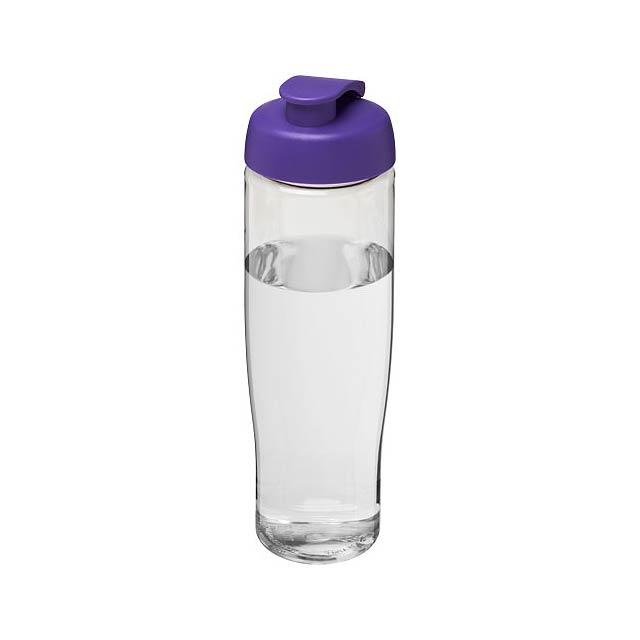 Sportovní láhev s vyklápěcím víčkem H2O Tempo® 700 ml - transparentní