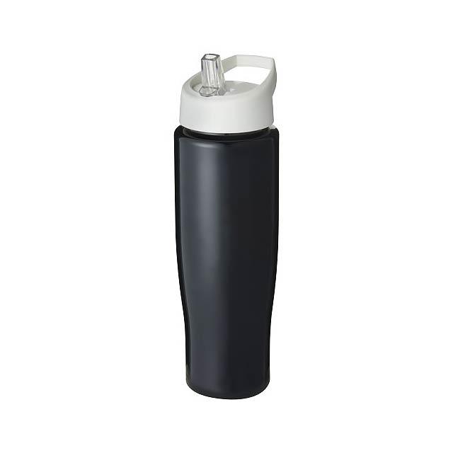 Sportovní láhev s víčkem s hubičkou H2O Tempo® 700 ml - černá