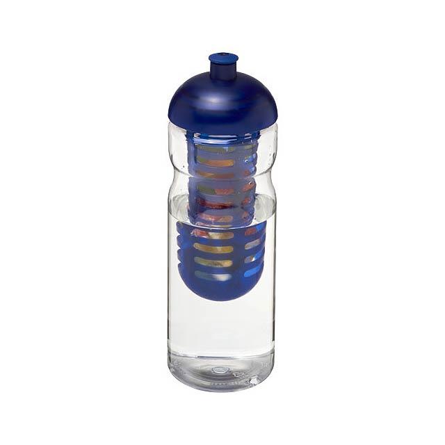 Sportovní láhev s infuzérema kupolovitým víčkem H2O Base® 65 - transparentní
