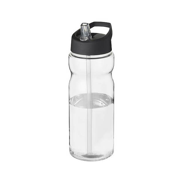 Sportovní láhev s víčkem s hubičkou H2O Base® 650 ml - transparentní