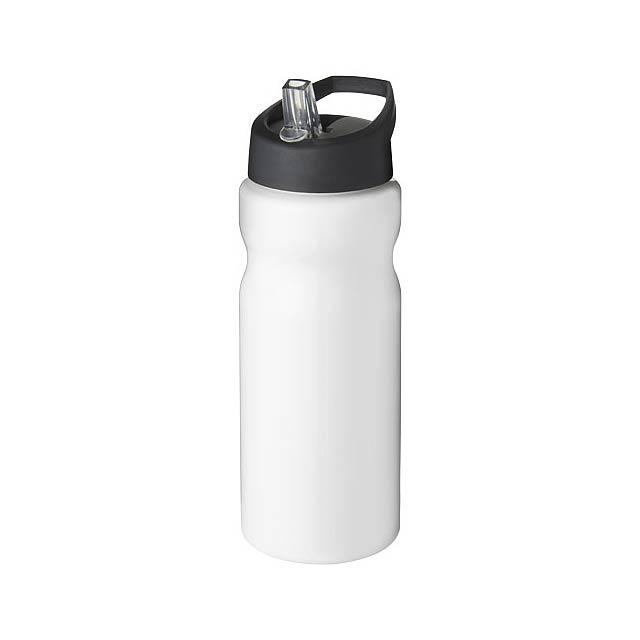 Sportovní láhev s víčkem s hubičkou H2O Base® 650 ml - bílá