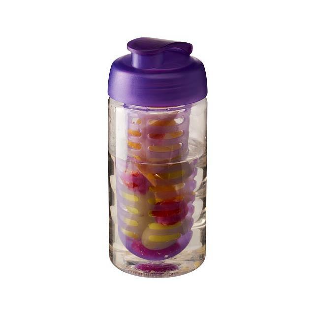 Sportovní láhev s infuzérem a vyklápěcím víčkem H2O Bop® 500 - transparentní