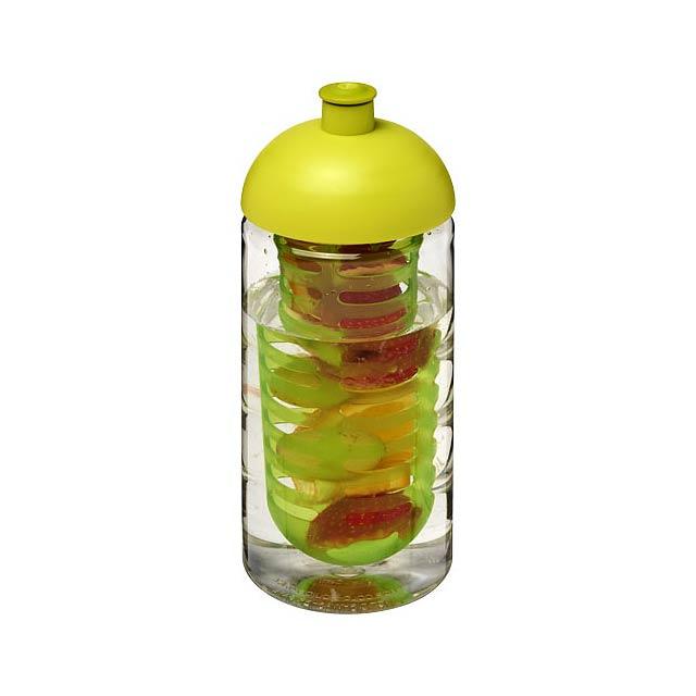 Sportovní láhev s infuzérem a kupolovitým víčkem H2O Bop® 50 - transparentní