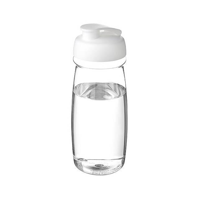 Sportovní láhev s vyklápěcím víčkem H2O Pulse® 600 ml - transparentní