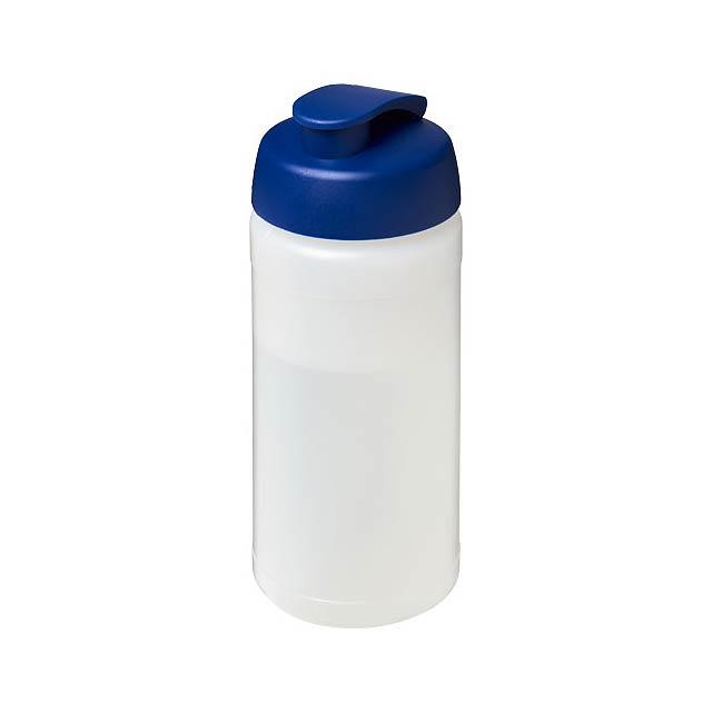 Sportovní láhev s vyklápěcím víčkem Baseline® Plus 500 ml - transparentní
