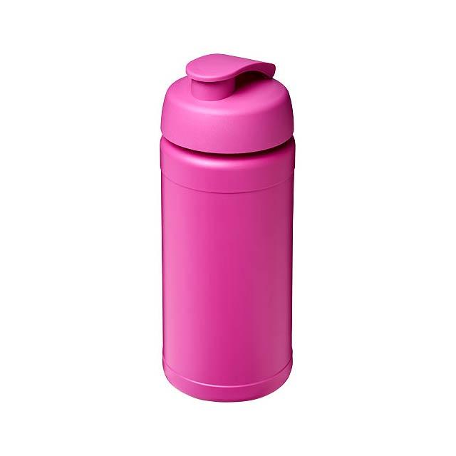 Sportovní láhev s vyklápěcím víčkem Baseline® Plus 500 ml - fuchsiová (tm. růžová)