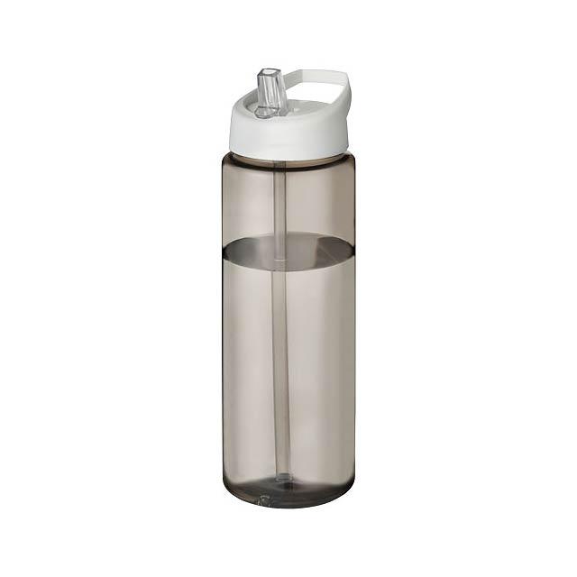 H2O Vibe 850 ml sportovní lahev s víčkem s hubičkou - černá
