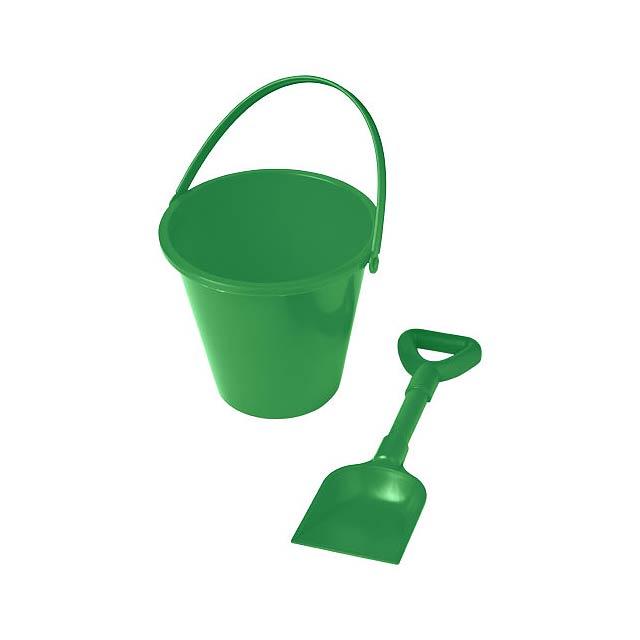 Kbelík a lopatka na pláž Finn - zelená
