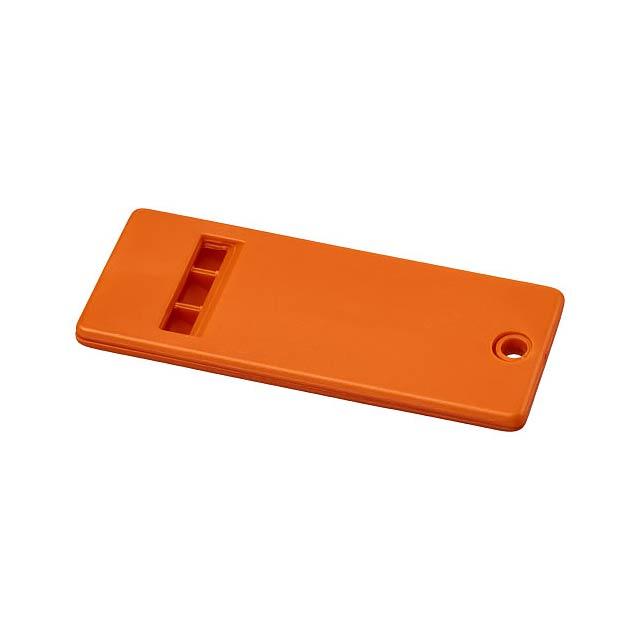 Plochá píšťalka Wanda s velkým povrchem pro vaši značku - oranžová