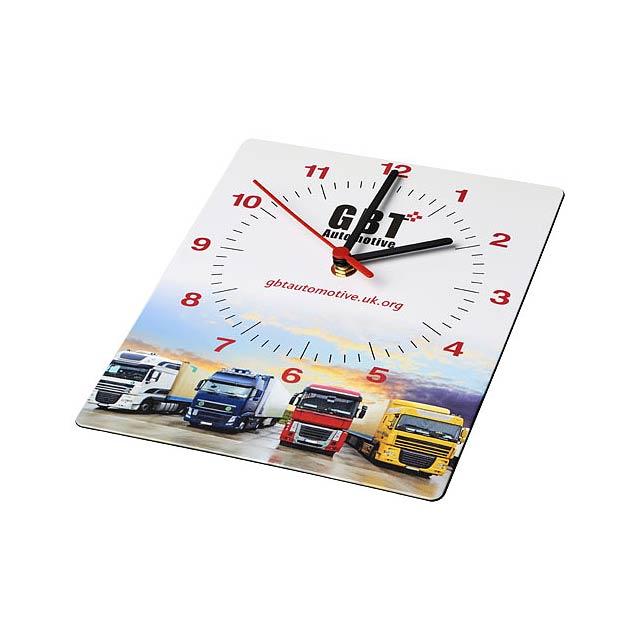 Obdélníkové nástěnné hodiny Brite-Clock® - černá
