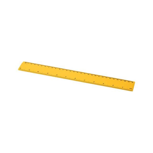 Plastové pravítko 30 cm Renzo - žlutá
