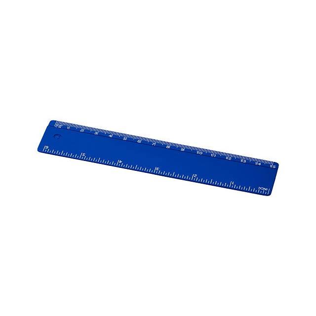Plastové pravítko 15 cm Renzo - modrá