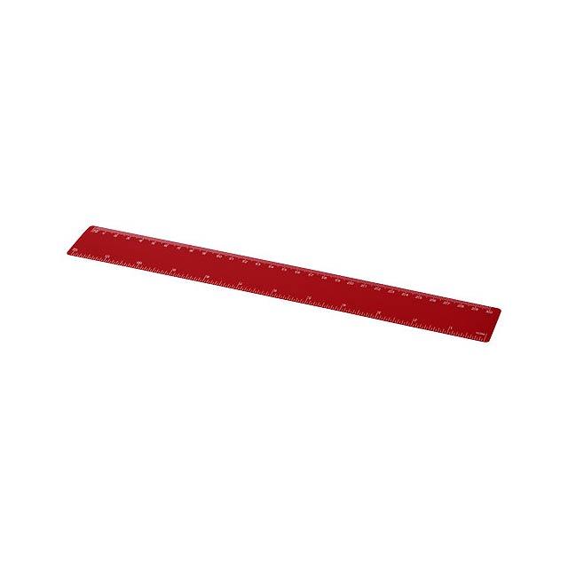 Pravítko Rothko 30 cm PP - transparentní červená