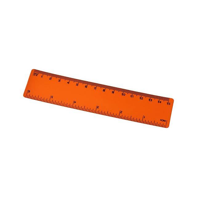 Pravítko Rothko 15 cm PP - oranžová