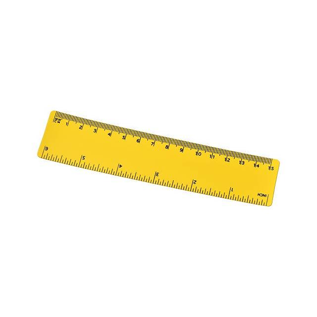 Pravítko Rothko 15 cm PP - žlutá