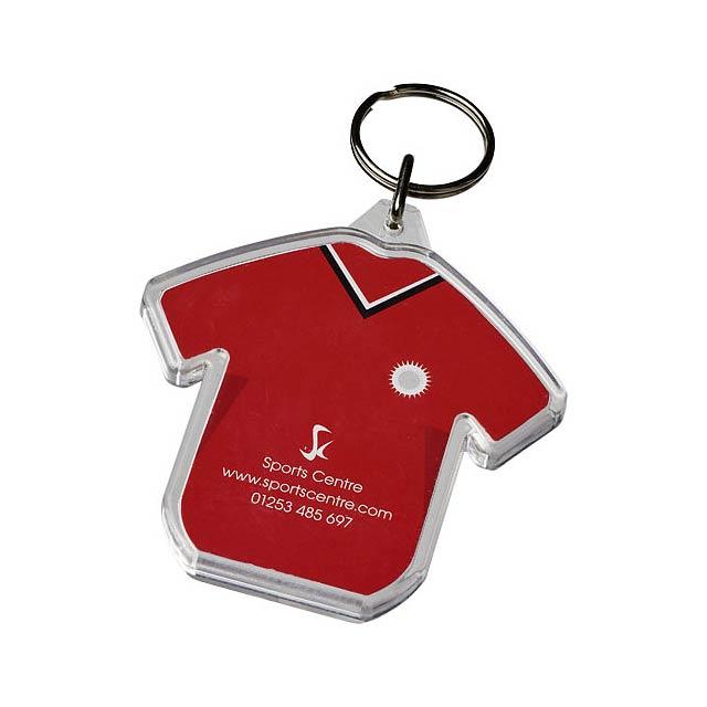 Klíčenka Combo ve tvaru trička - transparentní