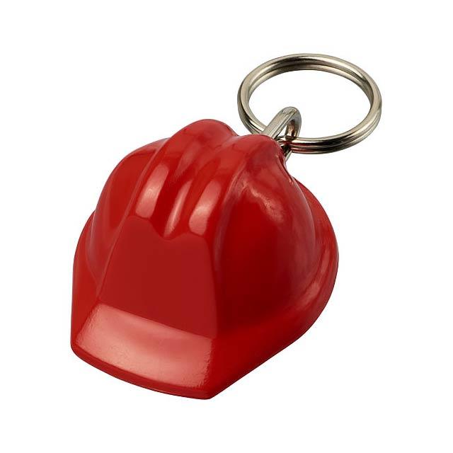 Klíčenka Kolt ve tvaru přilby - transparentní červená