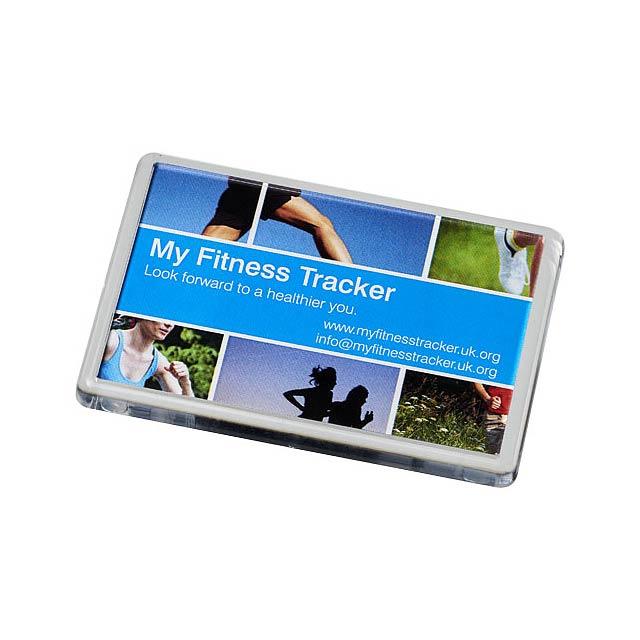 Plastový magnet na lednici Lure - transparentní