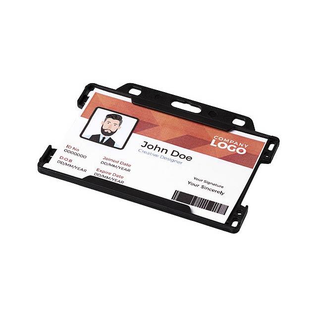 Pouzdro na plastové karty Vega - černá