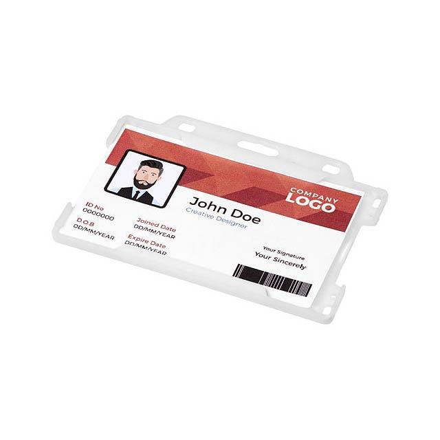 Pouzdro na plastové karty Vega - transparentní