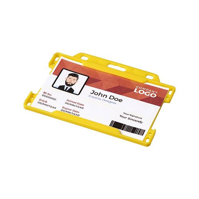 Pouzdro na plastové karty Vega - žlutá