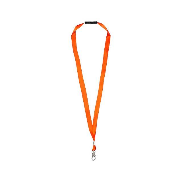 Lanyard Oro s rozepínací pojistkou - oranžová