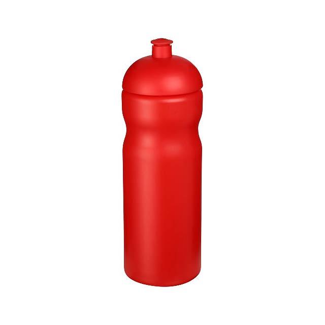 Sportovní láhev s kupolovitým víčkem Baseline® Plus 650 ml - transparentní červená