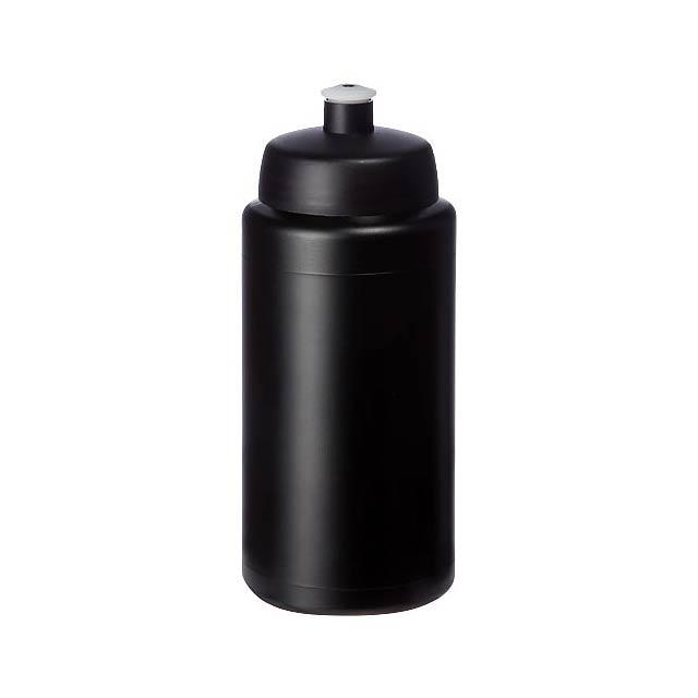 Baseline® Plus grip 500 ml sportovní lahev s víčkem na sport - černá