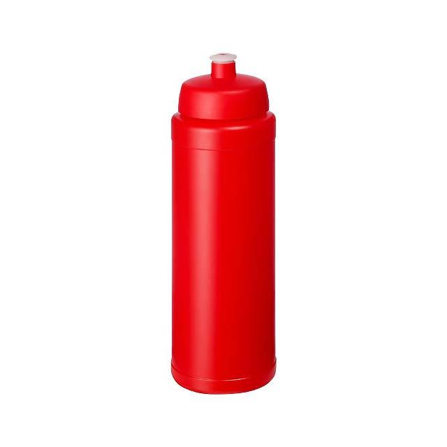 Baseline® Plus grip 750 ml sportovní lahev s víčkem na sport - transparentní červená