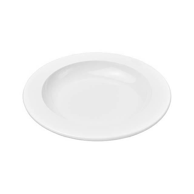 Kulatý plastový talíř Pax - bílá