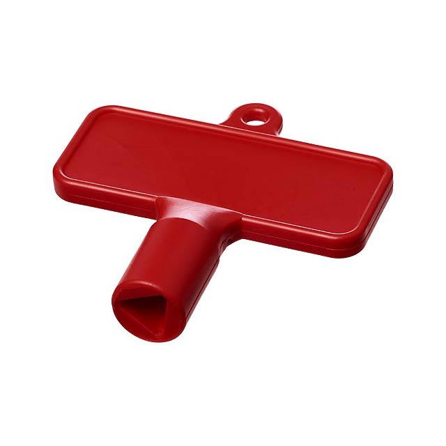 Maximilian obdélníkový univerzální montážní klíč - transparentní červená