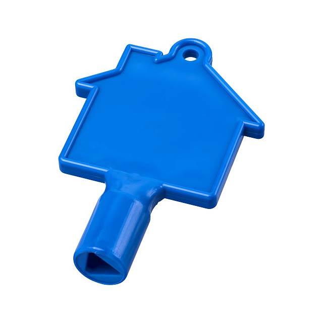 Klíč na měřidla ve tvaru domu Maximilian - modrá