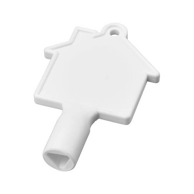 Klíč na měřidla ve tvaru domu Maximilian - bílá