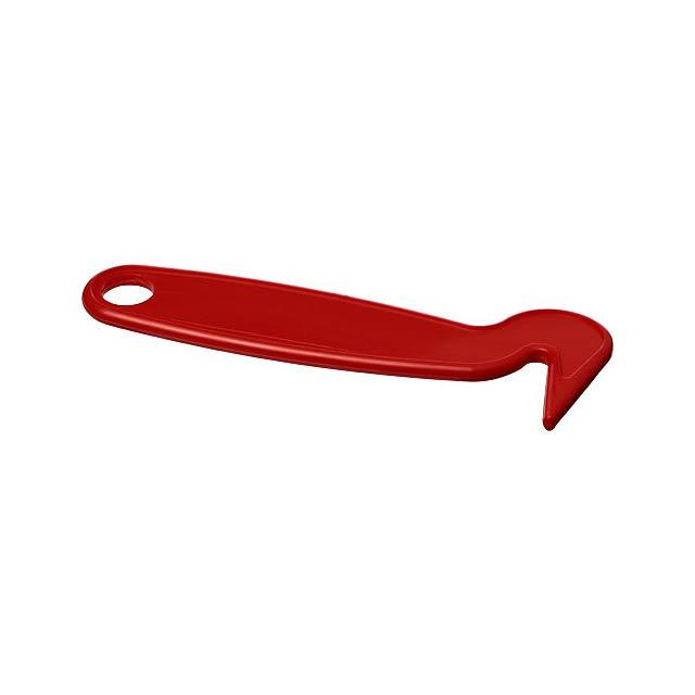 Plastové škrabátko na kopyta Flynn - transparentní červená