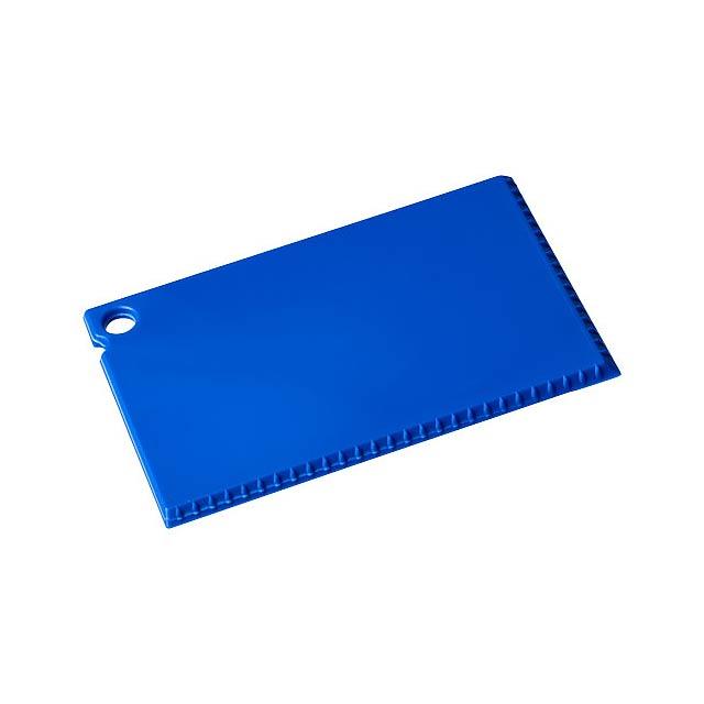 Škrabka na led Coro o velikosti platební karty - modrá