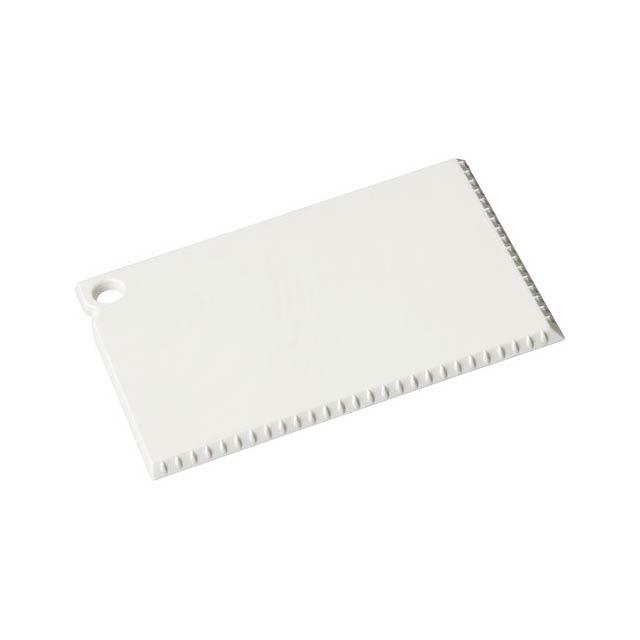 Škrabka na led Coro o velikosti platební karty - bílá