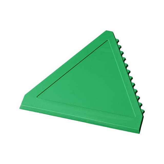 Trojúhelníková škrabka na led Averall - zelená