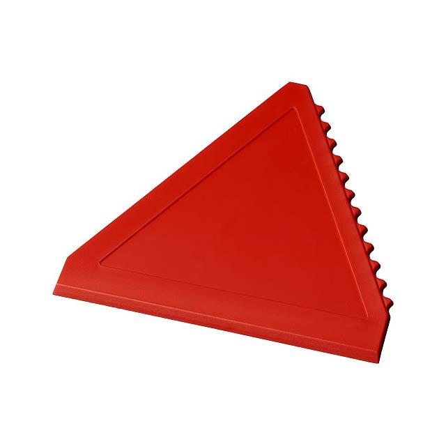 Trojúhelníková škrabka na led Averall - transparentní červená