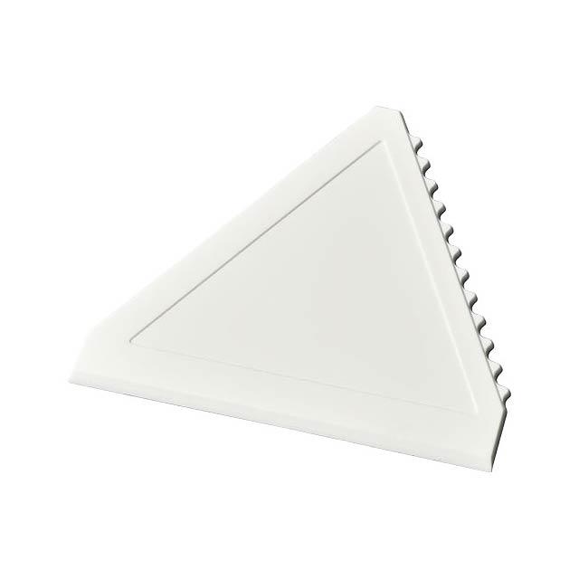 Trojúhelníková škrabka na led Averall - bílá