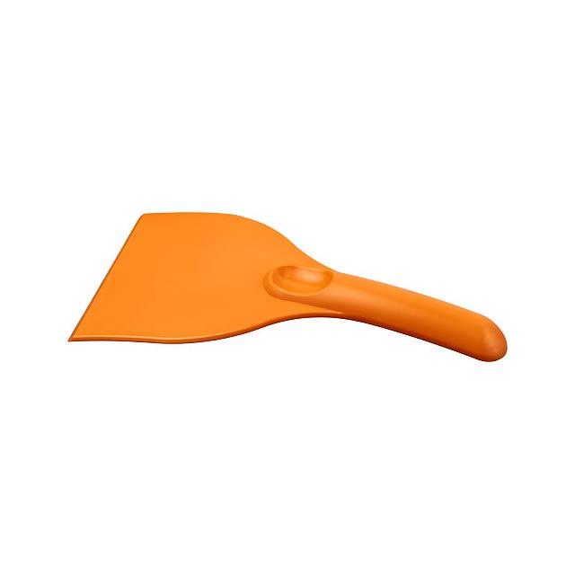 Zakřivená plastová škrabka na led Artur - oranžová
