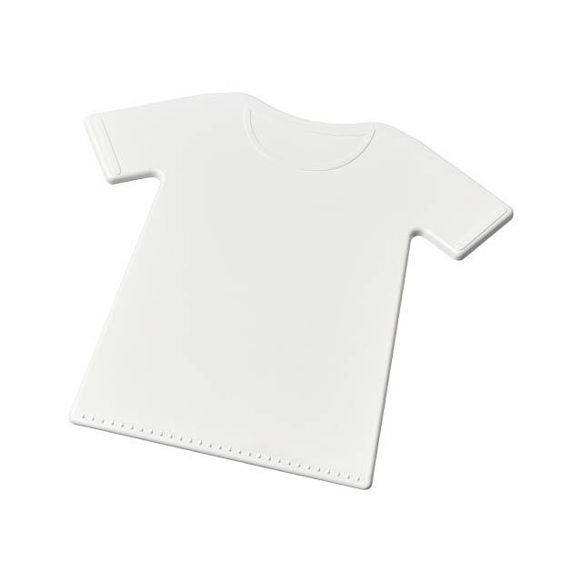 Škrabka na led ve tvaru trička Brace - bílá