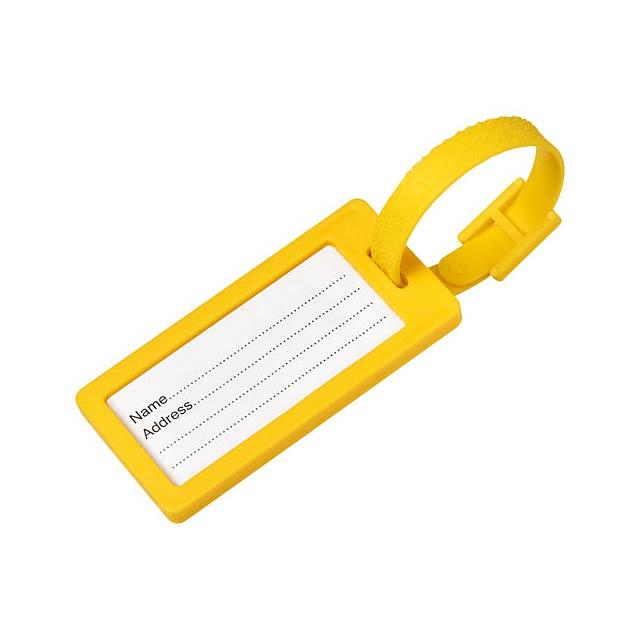 Štítek na zavazadla s okénkem River - žlutá